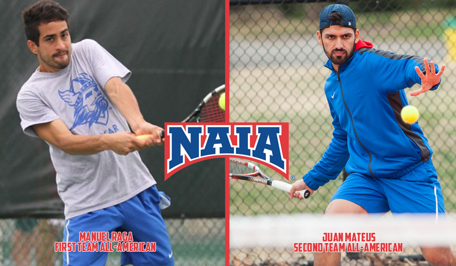 Photo for Bethany's Raga and Mateus Named to 2016 NAIA M -  Tennis All-America Teams
