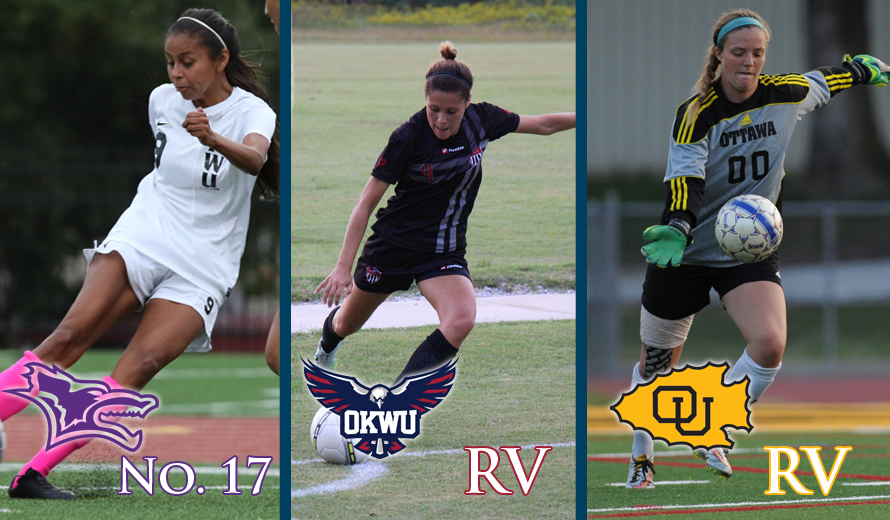 Photo for Kansas Wesleyan No. 17, OU and OKWU Receiving Votes in NAIA W -  Soccer Top 25 Poll