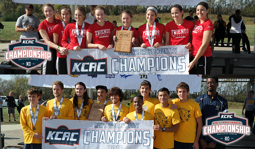 Photo for Friends Women, Saint Mary Men Win 2016 KCAC Cross Country Championships
