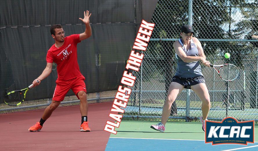 Photo for Lahlou and Medaris Earn KCAC Tennis Weekly Awards