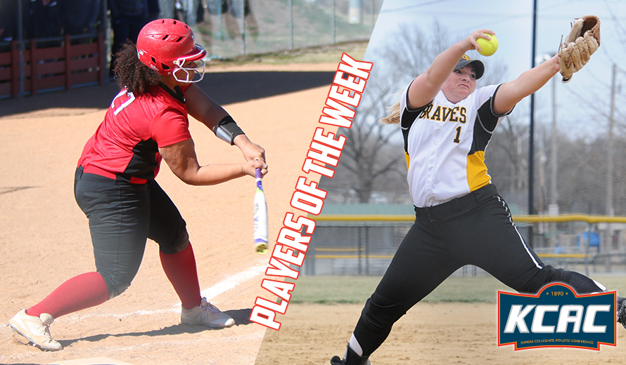 Photo for Jones and Morgan Earn KCAC Softball Weekly Awards
