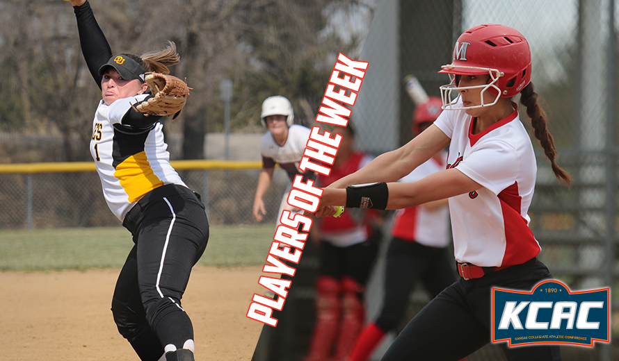 Photo for Morgan and Conrad Earn KCAC Softball Weekly Honors