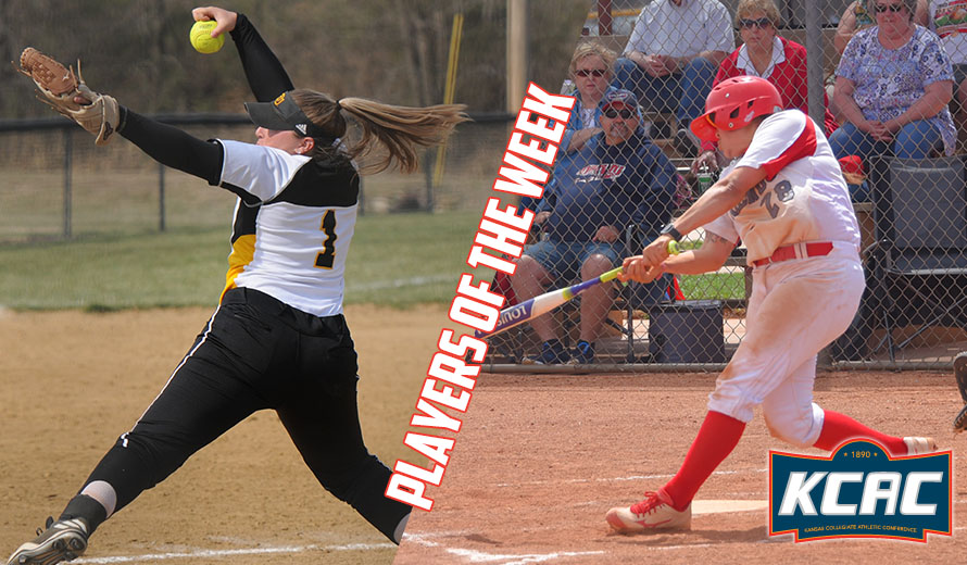Photo for Morgan and Gonzalez Earn KCAC Softball Weekly Honors