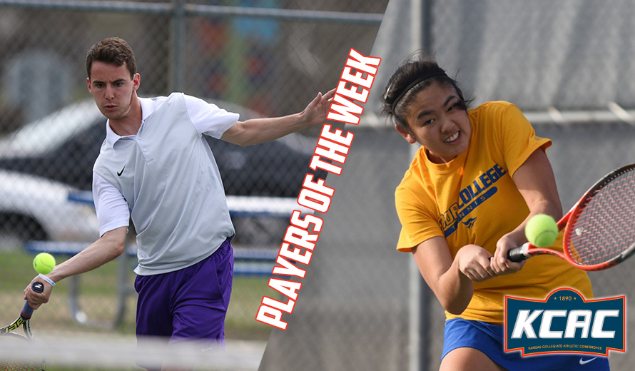 Photo for Byers and Emoto Earn KCAC Tennis Weekly Awards