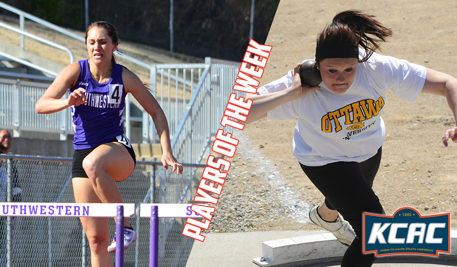 Photo for Needham and Music Earn First KCAC W -  Outdoor Track and Field Weekly Awards