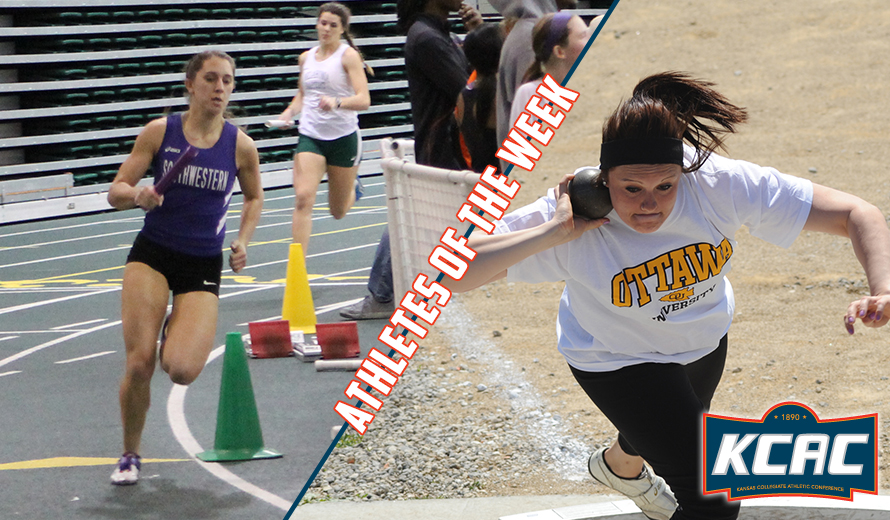 Photo for Needham and Music Earn KCAC W -  Indoor Track and Field Weekly Awards