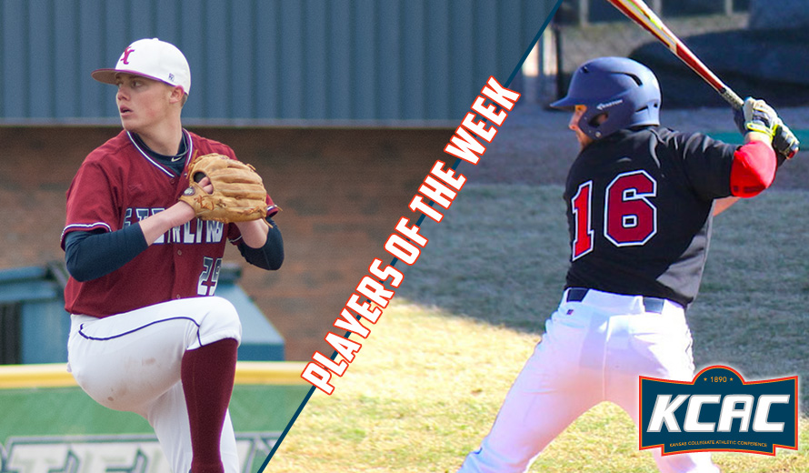 Photo for Tison and Achenbach Earn KCAC Baseball Weekly Awards