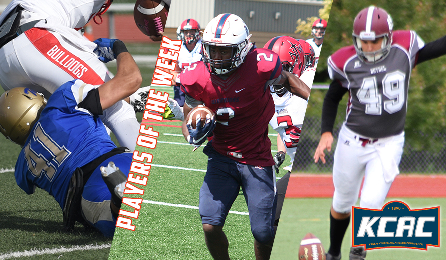 Photo for Sprayberry, Brown, and Mathis Earn KCAC Football Weekly Awards