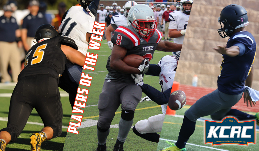 Photo for Wurst, Rogers, and Pirrin Earn KCAC Football Weekly Honors