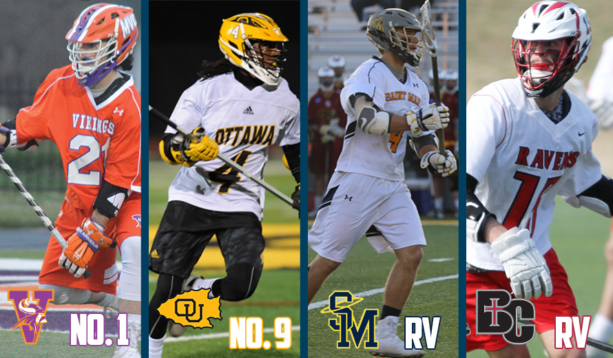 Photo for Missouri Valley No. 1, Ottawa No. 9, Saint Mary and Benedictine RV in NAIA M -  Lacrosse Poll