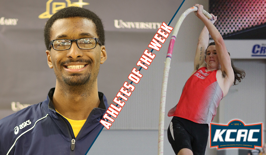 Photo for Adams and Hop Earn KCAC M -  Indoor Track and Field Weekly Awards