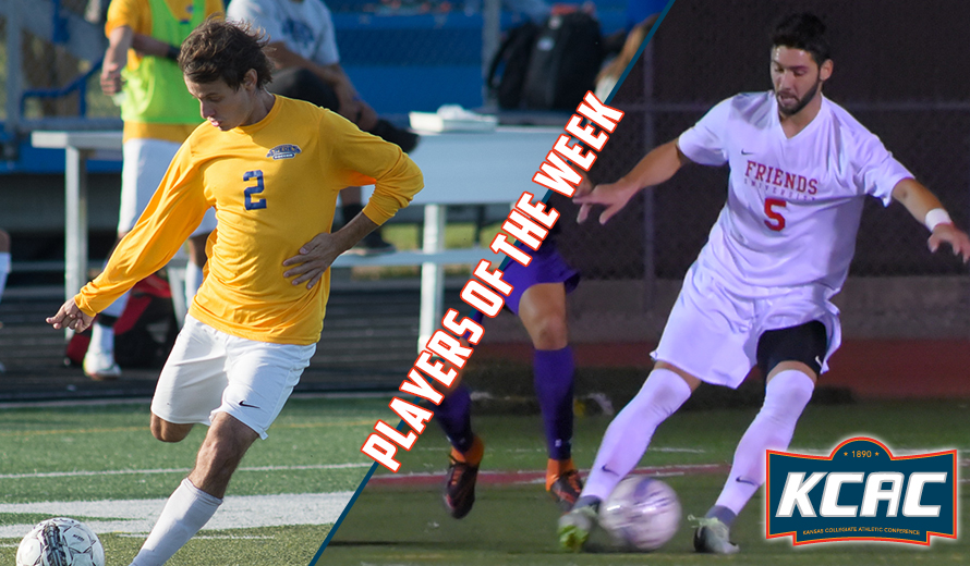 Photo for Barbosa and Sosa Earn KCAC M -  Soccer Weekly Awards