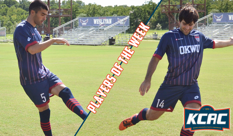 Photo for Oklahoma Wesleyan Sweeps KCAC M -  Soccer Weekly Awards