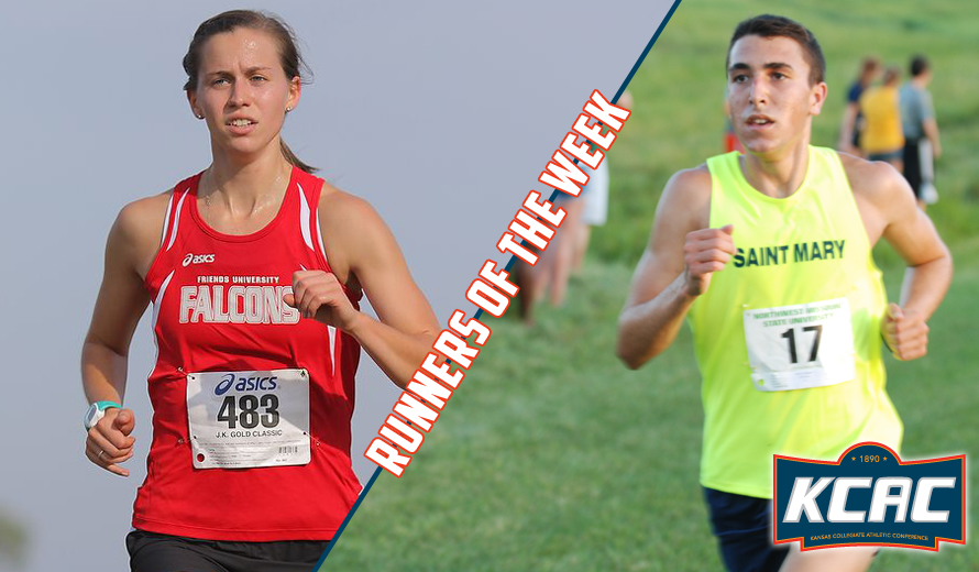 Photo for Graham and Follette Earn KCAC Cross Country Weekly Awards