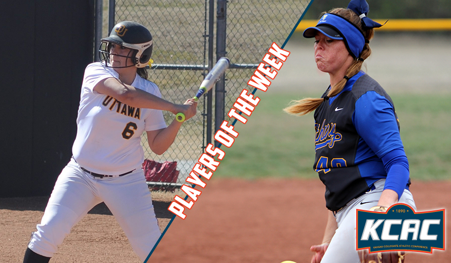 Photo for Dennison and Valenzuela Earn KCAC Softball Weekly Awards
