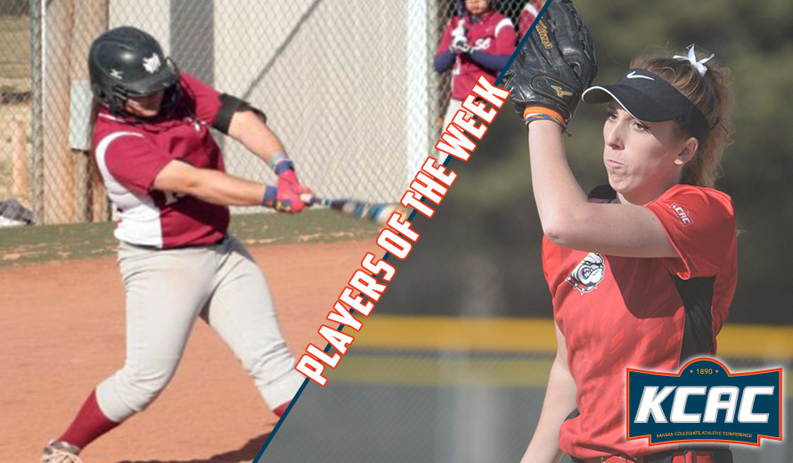 Photo for Betker and Grass Earn KCAC Weekly Softball Awards