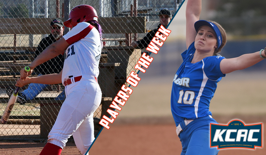 Photo for Marlnee and Byrd Earn KCAC Softball Weekly Awards