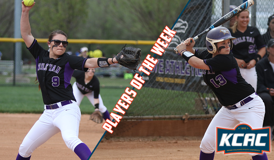 Photo for Kansas Wesleyan Sweeps KCAC Softball Weekly Awards