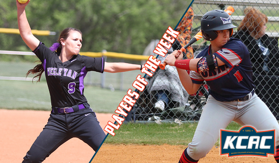 Photo for Parsons and Howard Earn KCAC Softball Weekly Awards