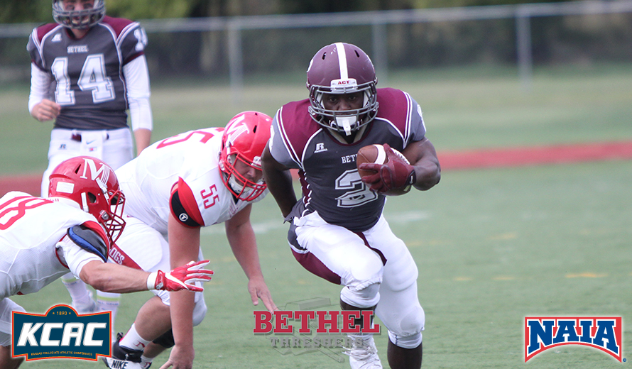 Photo for Bethel's Sykes Earns NAIA Football Offensive Player of the Week Award