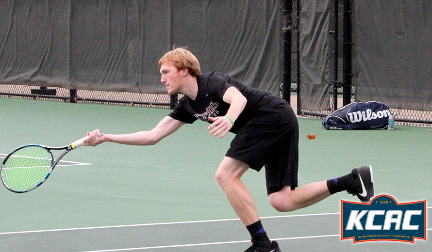Photo for Bethel's Gabe Johnson Earns KCAC M -  Tennis Player of the Week