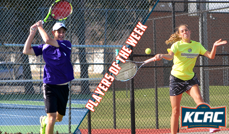 Photo for Poi and Groff Earn KCAC Tennis Weekly Awards