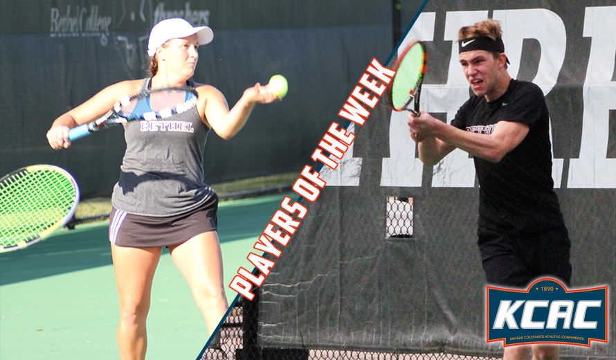 Photo for Bontrager and Harrison Earn KCAC Tennis Weekly Honors