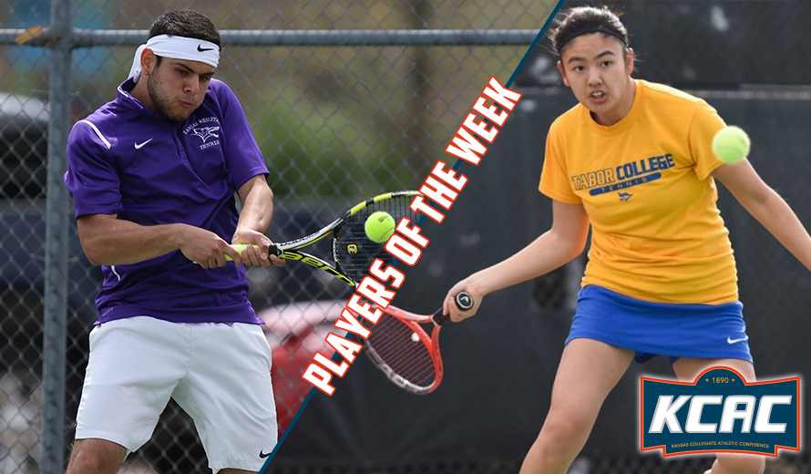 Photo for Rincon and Emoto Earn KCAC Tennis Weekly Honors