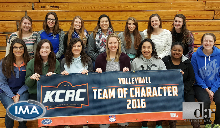 Photo for York College Volleyball Earns 2016 KCAC Team of Character