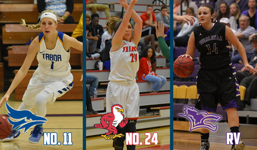 Photo for Tabor No. 11, Friends No. 24, Kansas Wesleyan RV in NAIA DII W -  Basketball Poll