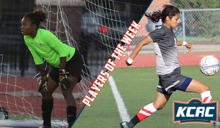Photo for Evans and Fernandez Earn KCAC W -  Soccer Weekly Awards