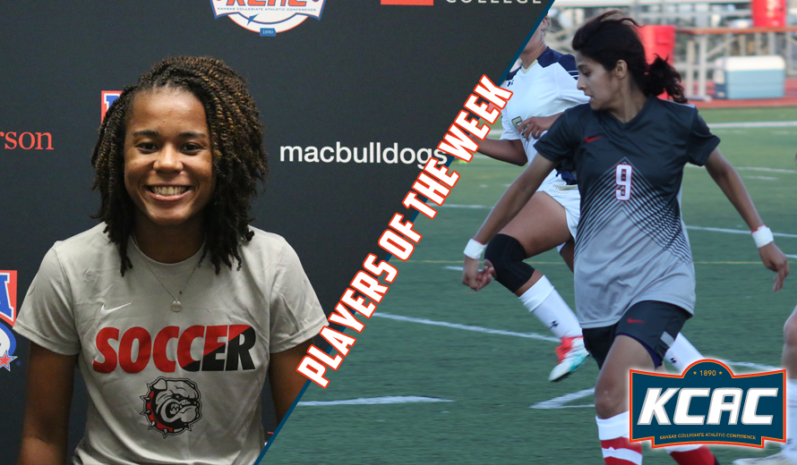Photo for Evans and Fernandez Earn First KCAC W -  Soccer Weekly Awards