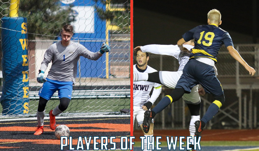 Photo for Galvin and Sanchez Earn KCAC M -  Soccer Weekly Awards