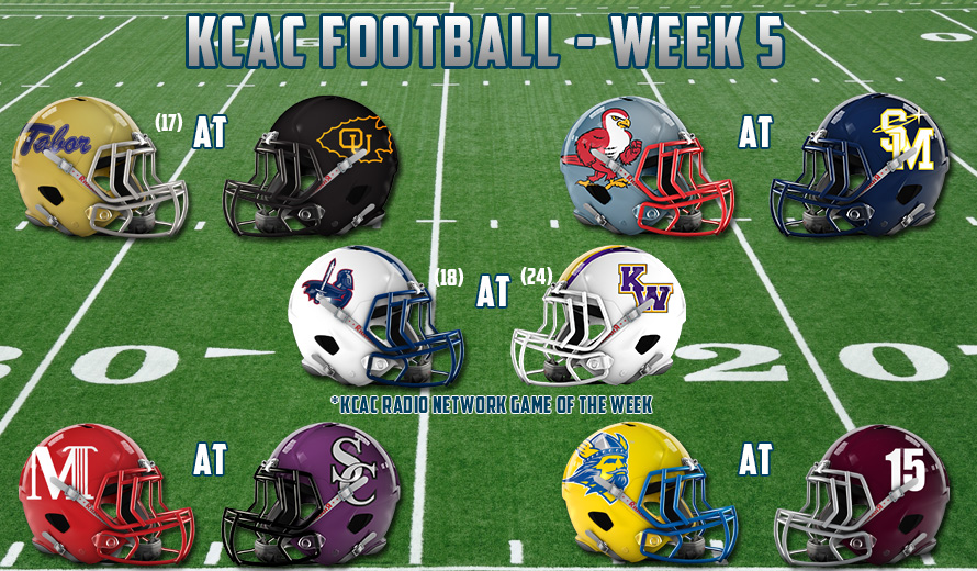 Photo for 2017 KCAC FOOTBALL - WEEK FIVE PREVIEW