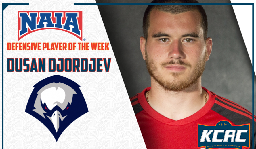 Photo for No.1 OKLAHOMA WESLEYAN'S DUSAN DJORDJEV NAMED NAIA MEN'S SOCCER DEFENSIVE PLAYER OF THE WEEK