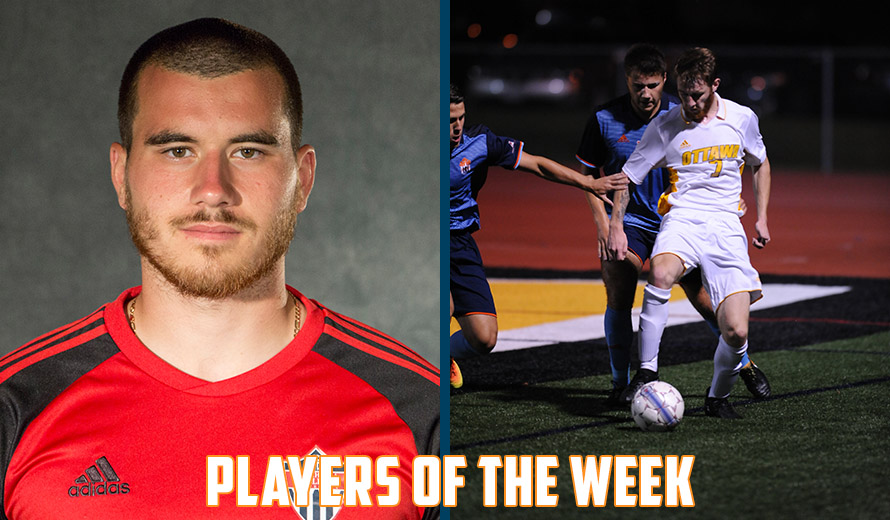 Photo for Djordjev and Kavanagh Earn KCAC M -  Soccer Weekly Awards
