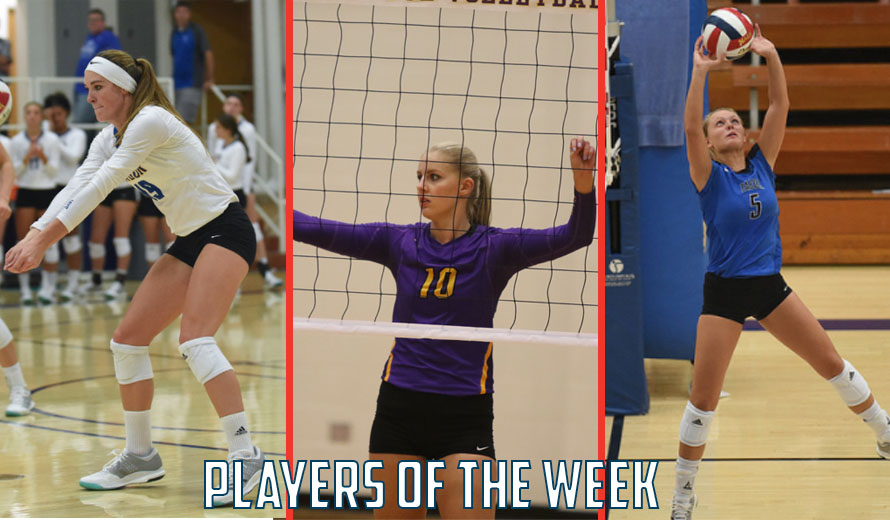 Photo for Honer, Pettit, and Voth Earn KCAC Volleyball Weekly Awards