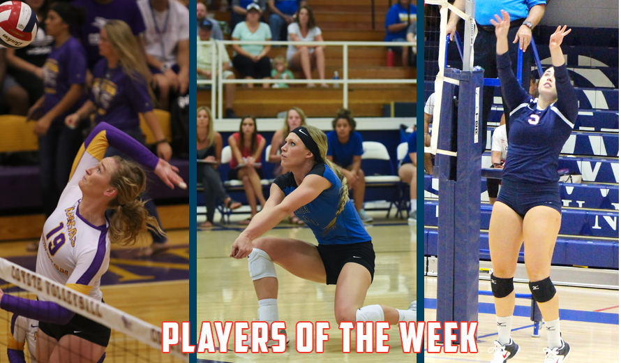 Photo for Plummer, Jost, and Garis Earn KCAC Volleyball Weekly Awards