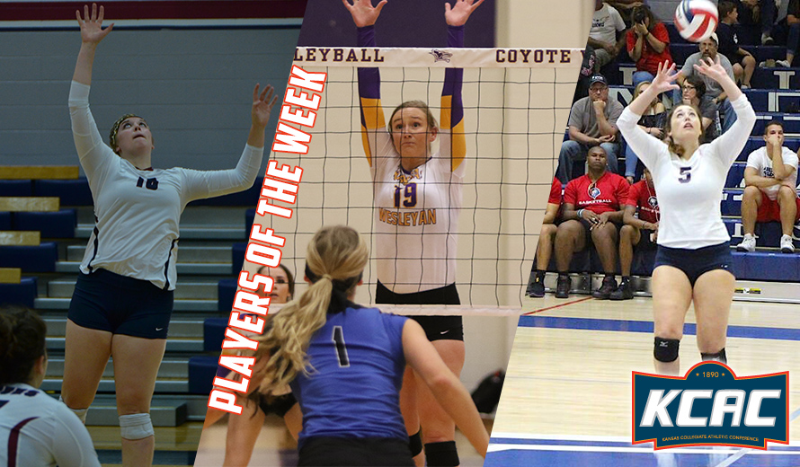 Photo for Riffel, Plummer, and Garis Earn KCAC Volleyball Weekly Awards