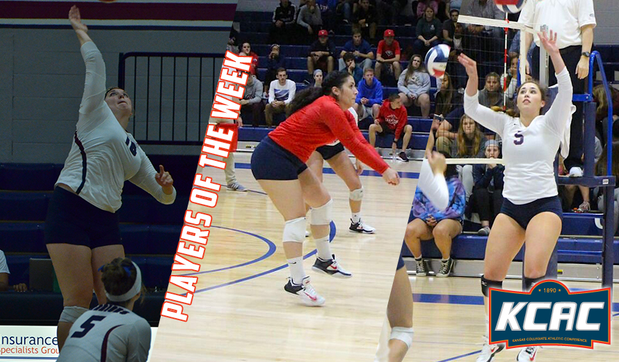 Photo for Riffel, Novakovic, and Garis Earn KCAC Volleyball Weekly Awards