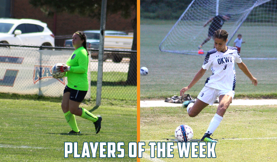 Photo for French and Cremin Earn KCAC W -  Soccer Weekly Awards